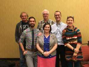 ULFA representatives at the CAFA conference. From left to right: David Kaminski, Derrick Antson, Dan O'Donnell, Annabree Fairweather, Paul Hayes, Andrea Amelinckx.